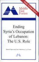 Ending Syria's Occupation of Lebanon
