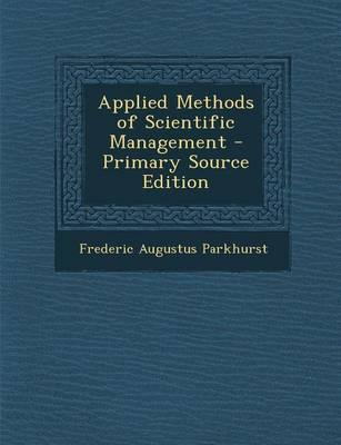 Applied Methods of Scientific Management