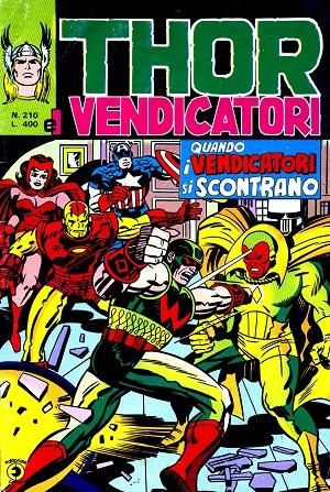 Thor e i Vendicatori (Il Mitico Thor) n. 210