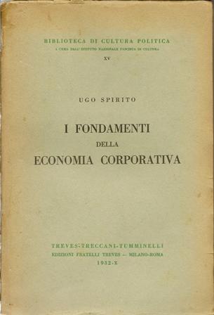 I fondamenti della economia corporativa