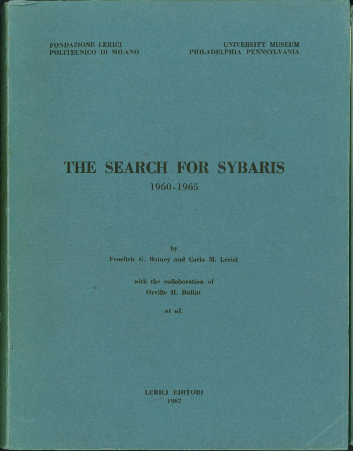 The Search for Sybaris, 1960-1965