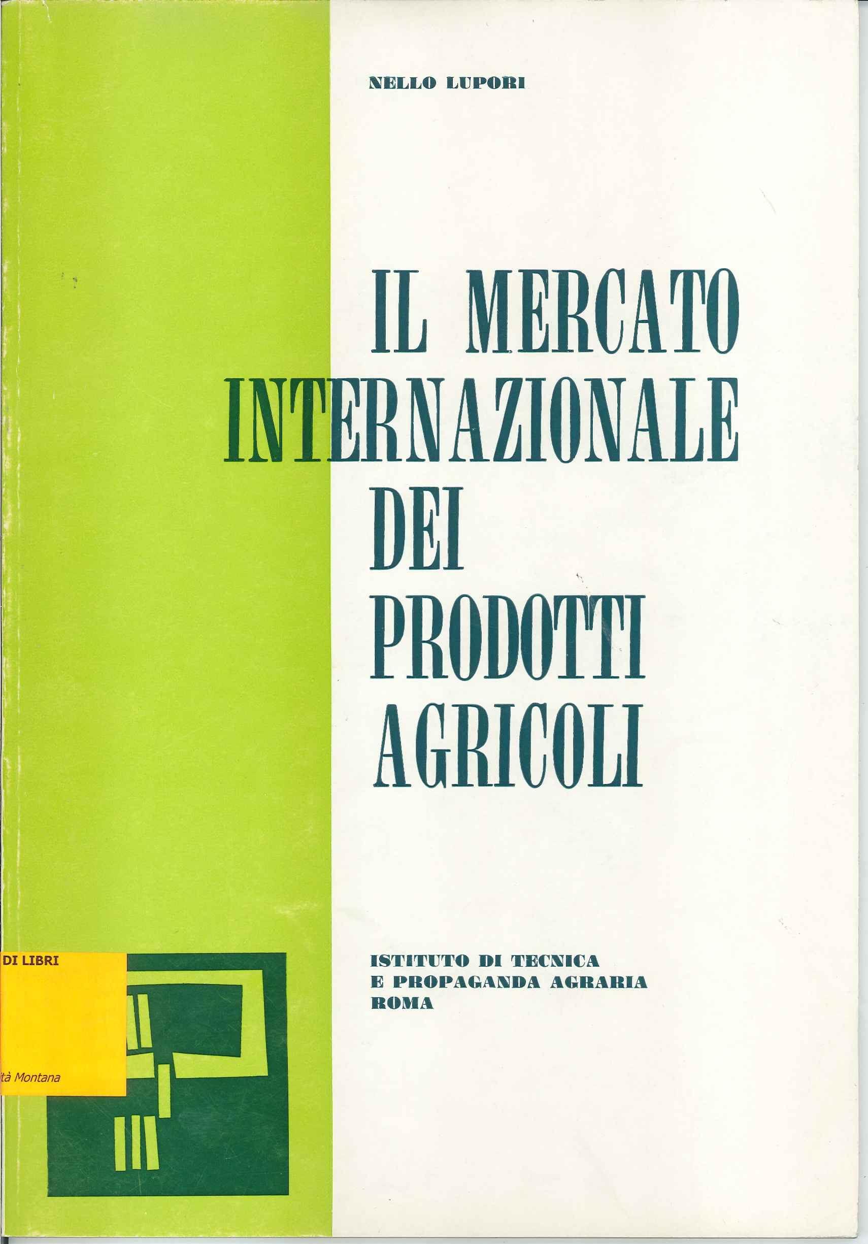 Il mercato internazionale dei prodotti agricoli