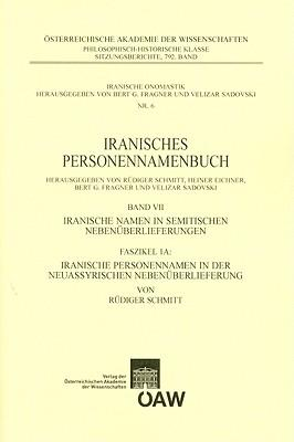 Iranisches Personennamenbuch, Band VII. Faszikel 1a