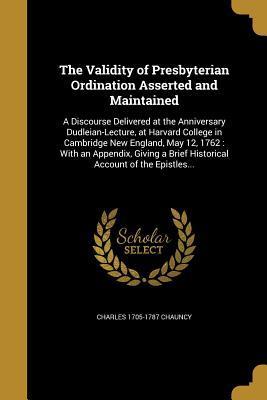 VALIDITY OF PRESBYTERIAN ORDIN