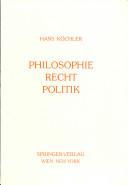 Philosophie, Recht, Politik