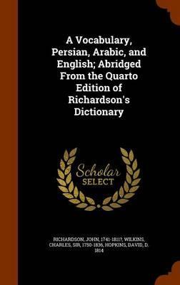A Vocabulary, Persia...
