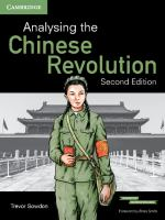 Analysing the Chinese Revolution