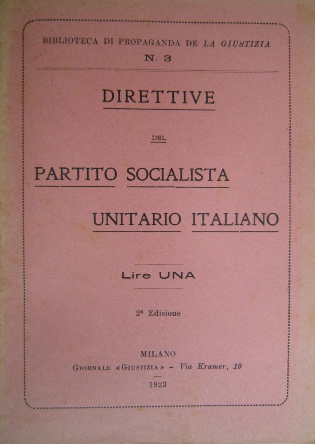 Direttive del Partito Socialista Unitario Italiano