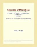 Speaking of Operatio...