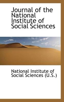 Journal of the National Institute of Social Sciences