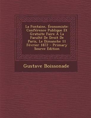 La Fontaine, Economiste