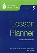 FOUNDATIONS READING LIBRARY LESSON PLANNER. LEVEL 5