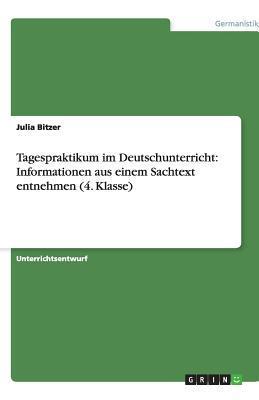 Tagespraktikum im Deutschunterricht
