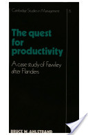The Quest for Productivity