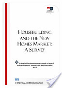 Housebuilding and the New Homes Market