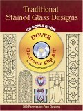 Traditional Stained Glass Designs CD-ROM and Book