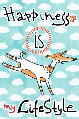 Journal Notebook For Dog Lovers, Happiness Is My Lifestyle Stripey Dog 1
