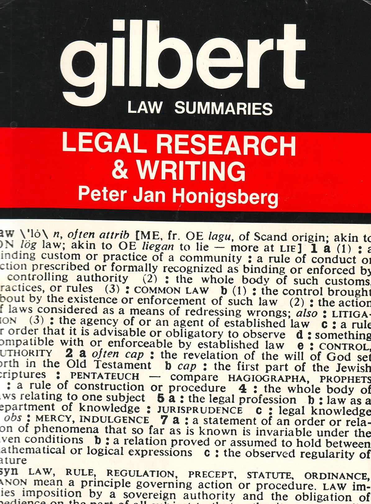 Gilbert Law Summaries Legal Research & Writing