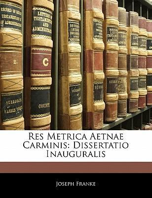 Res Metrica Aetnae C...
