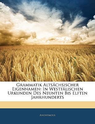 Grammatik Altschsischer Eigennamen
