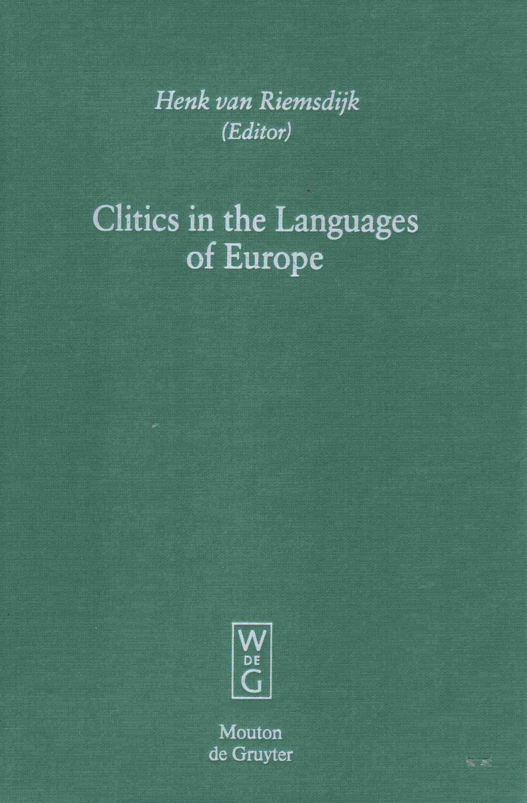 Clitics in the Languages of Europe