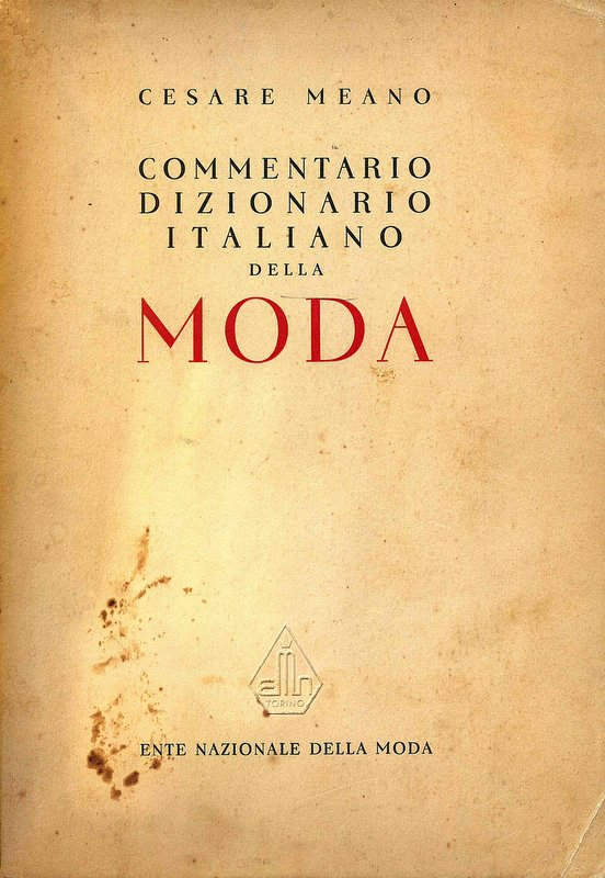 Commentario dizionario italiano della moda