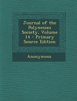Journal of the Polynesian Society, Volume 14
