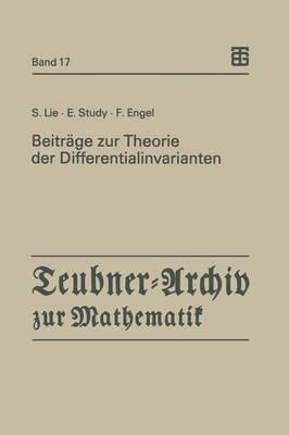 Beiträge Zur Theori...