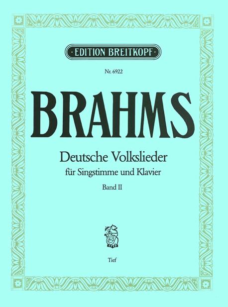 Deutsche Volkslieder für Singstimme und Klavier, Band 2