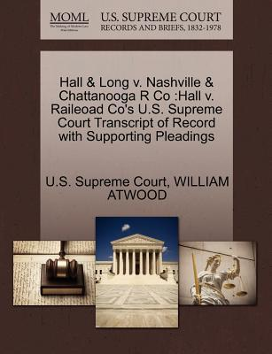 Hall & Long V. Nashville & Chattanooga R Co