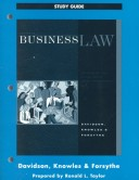 Business Law, Principles and Cases in the Legal Envionment, Study Guide