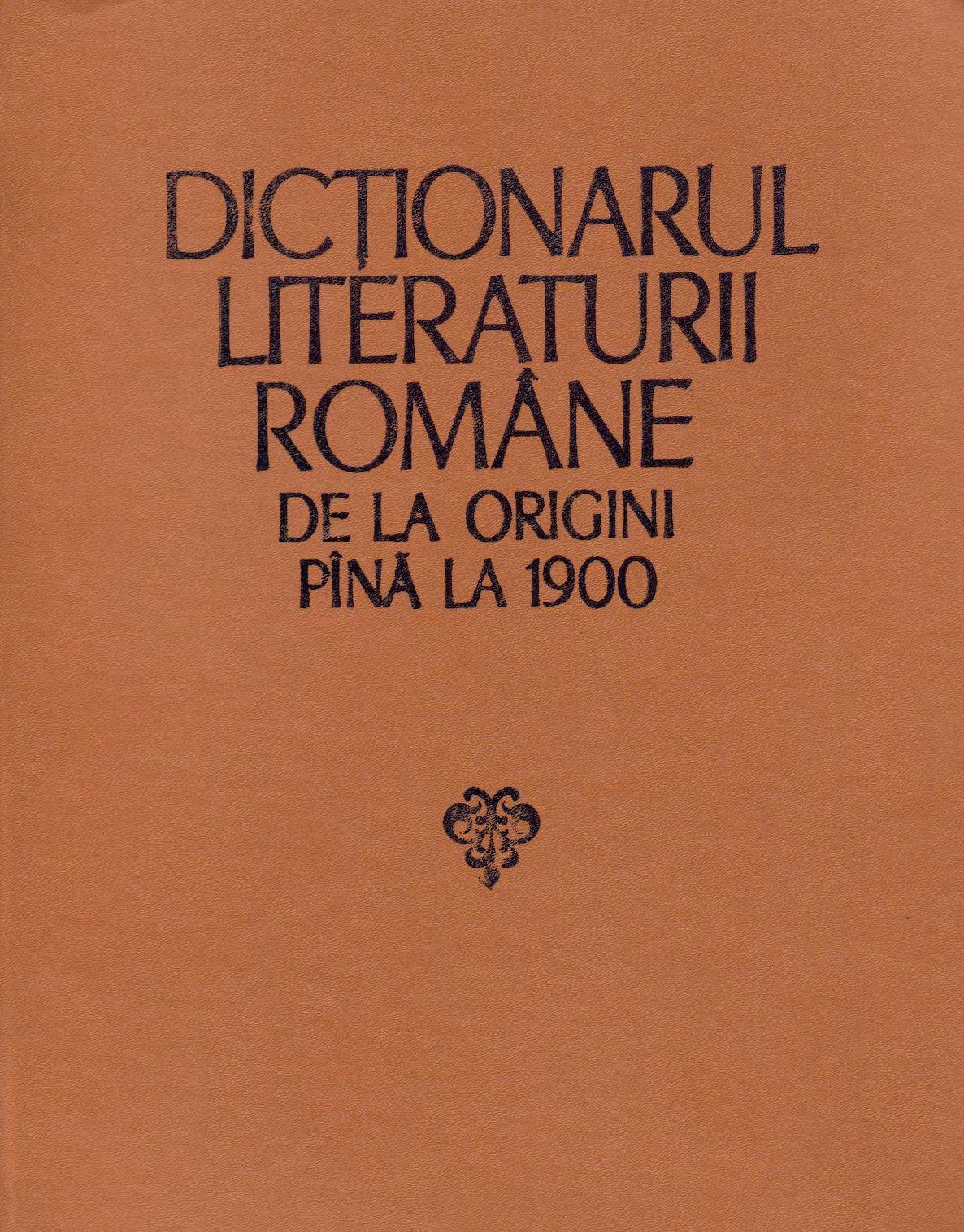 Dicţionarul literat...