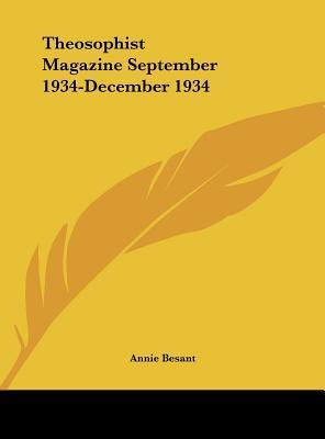 Theosophist Magazine September 1934-December 1934