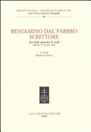 Beniamino Dal Fabbro scrittore. Atti della Giornata di Studio (Belluno, 29 ottobre 2010)