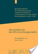 Rechtsprobleme der Restrukturierung landwirtschaftlicher Unternehmen in den neuen Bundesländern nach 1989