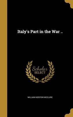 ITALYS PART IN THE WAR