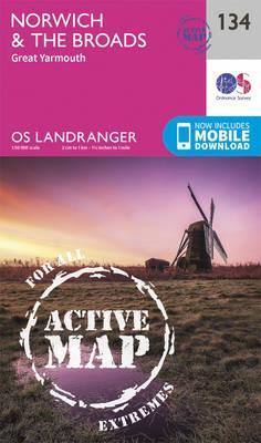 Landranger Active (134) Norwich & The Broads, Great Yarmouth