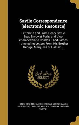 SAVILE CORRESPONDENCE ELECTRON