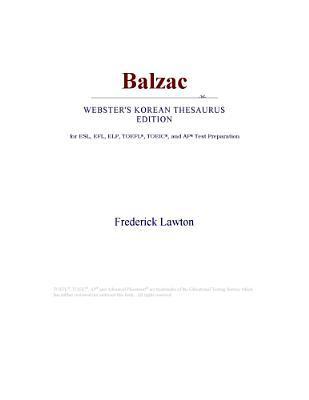 Balzac (Webster's Korean Thesaurus Edition)