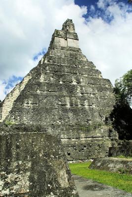Guatemala Mayan Pyramid Ruins of Tikal Lined Journal