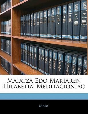 Maiatza EDO Mariaren Hilabetia, Meditacioniac