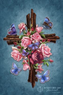Butterfly Rose Cross Journal