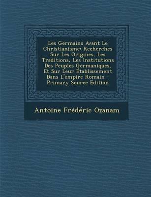 Les Germains Avant Le Christianisme