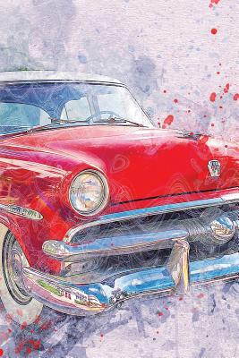 Red Muscle Car Watercolor Journal