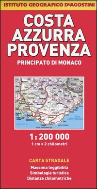 Costa Azzurra, Provenza, Principato di Monaco 1:200