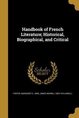 HANDBK OF FRENCH LITERATURE HI