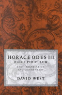 Horace Odes III: Dul...