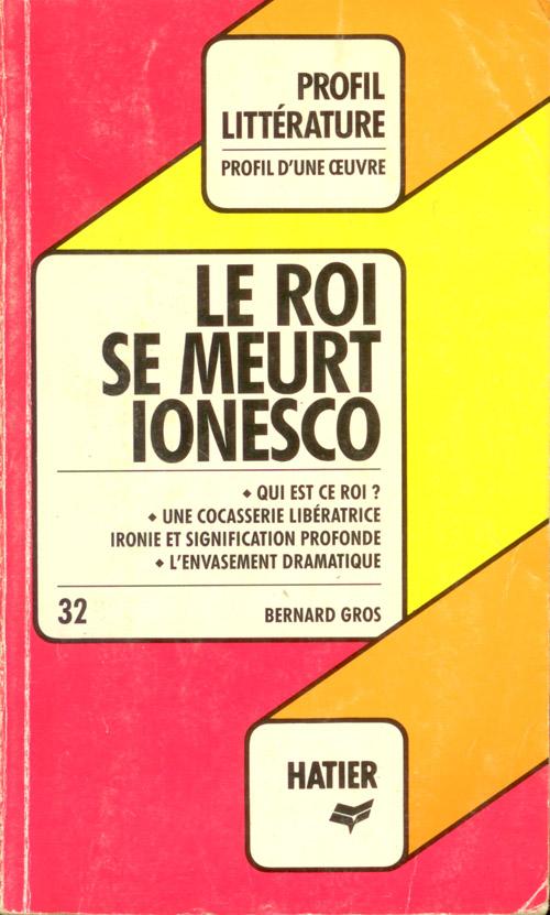 Le roi se meurt Ionesco