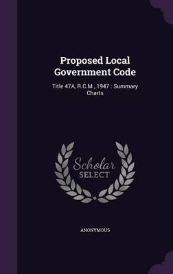Proposed Local Government Code