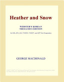 Heather and Snow (Webster's Korean Thesaurus Edition)